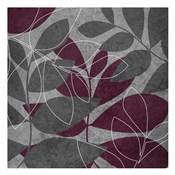 Grey Purple Leaves 1