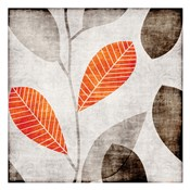 Gray Orange Leaves 2