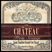 Grand Vin Wine Label II