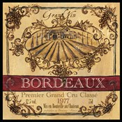 Grand Vin Wine Label III