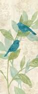 Love Bird Patterns Turquoise Panel I