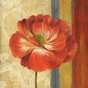 Poppy Tapestry Stripes II