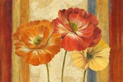 Poppy Tapestry Stripes Landscape