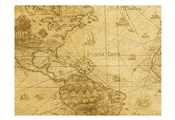 Vintage Map Carribean Sea