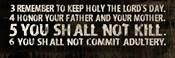10 Commandments (3-6)