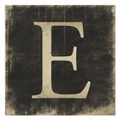 E (Black Background)