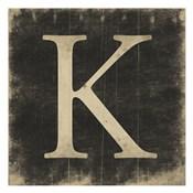 K (Black Background)