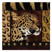 Leopard with Wild Border