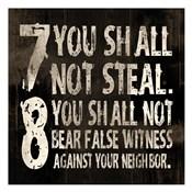 10 Commandments (7 & 8)