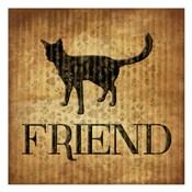Friend (brown background)