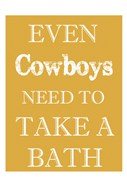 Cowboys Must Bathe