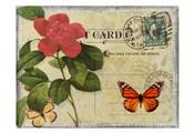 Vintage Butterfly Postcard II
