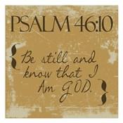 Psalms 46-10 Gold