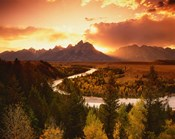 Teton Range at Sunset, Grand Teton National Park, Wyoming