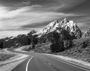 Teton Park Road and Teton Range, Grand Teton National Park, Wyoming