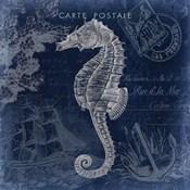 Seaside Postcard Navy II
