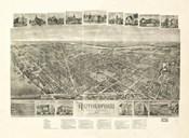Rutherford, NJ Vintage Map, 1904