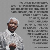 No One - Nelson Mandela Quote