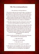The Ten Commandments - Red