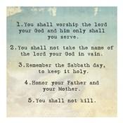 Ten Commandments 1-5