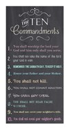 The Ten Commandments - Chalkboard