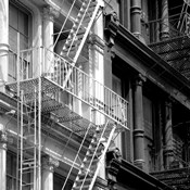 Fire Escape (b/w)