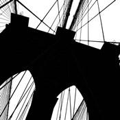 Brooklyn Bridge Silhouette (detail)