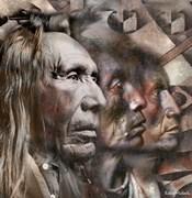 Three Native American Faces