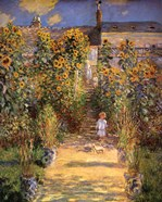 The Artist's Garden at Vetheuil with Boy, c.1880