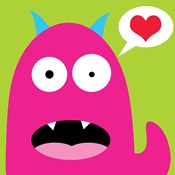 Pink Monster- Green
