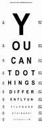 You Can't Do Things Differently  - Eye Chart 1