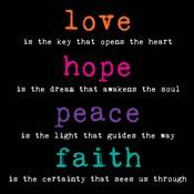 Love Hope Peace Faith 3