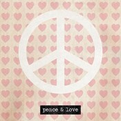 Peace - Pink Hearts