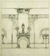 Design for the Boutique of Jeweller Fouquet, 6, Rue Royale