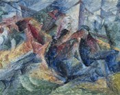 Horse, Horseman and Group of Houses