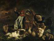 Dante and Virgil in Hell (Dante's Boat) 1822