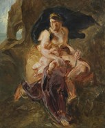 Medea about to Kill her Children