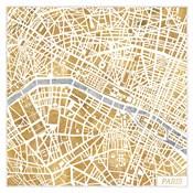 Gilded Paris Map