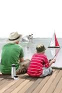Dad Son Boat