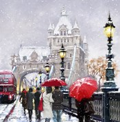 Tower Bridge In Snow