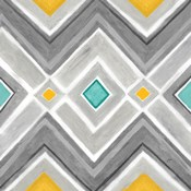Chevron Tile Black/White I