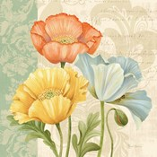 Pastel Poppies Multi I