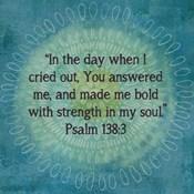 Jacobean Medallion Scripture I
