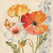 Watercolor Poppies Multi II