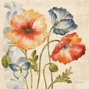 Watercolor Poppies Multi I