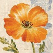 Watercolor Poppies III (Orange)