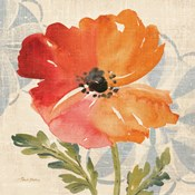 Watercolor Poppies V