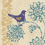 Blue Indigo Bird I