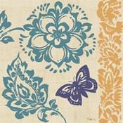 Blue Indigo Butterfly II