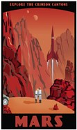 Crimson Canyons Of Mars